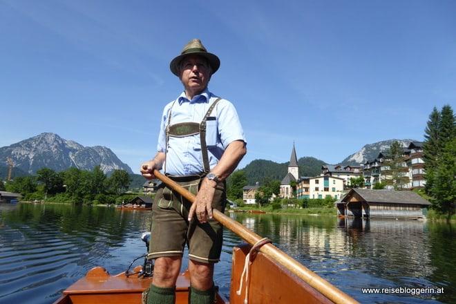 Plättenfahrt mit Herbert Stocker am Ausseer See