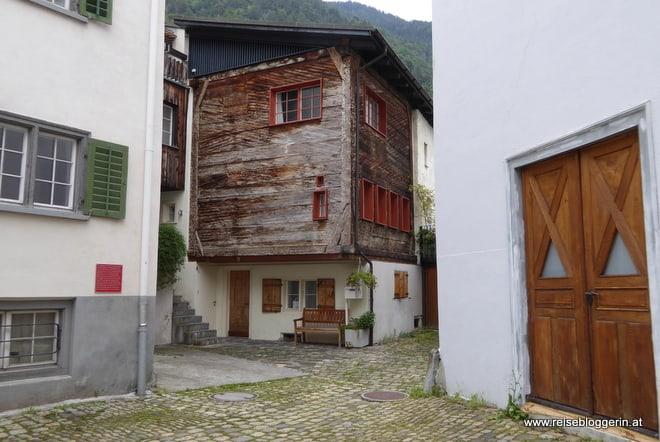 Das älteste Haus in Chur besteht hauptsächlich aus Holz