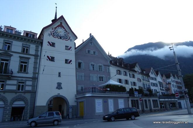 Obertor in Chur ist ein Tor in einem Stadtturm und führt in die Altstadt