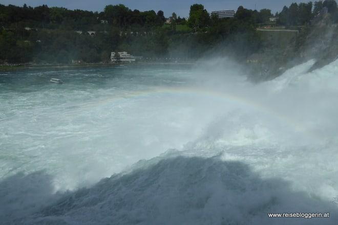 Regenbogen über dem Rheinfall