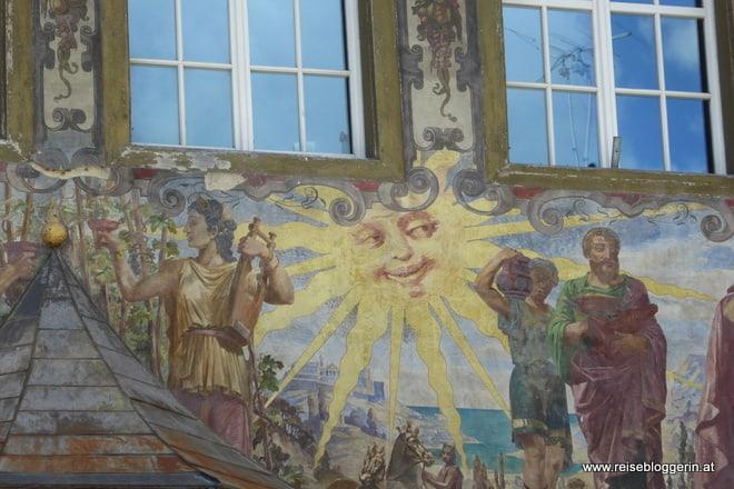 prunkvolle Hausfassade in Stein am Rhein