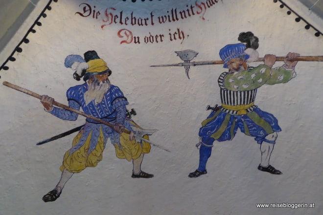 Wandmalereien in der Waffenkammer