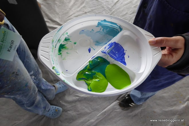 Acrylmalerei bei der natura.kreativ in Altenmarkt