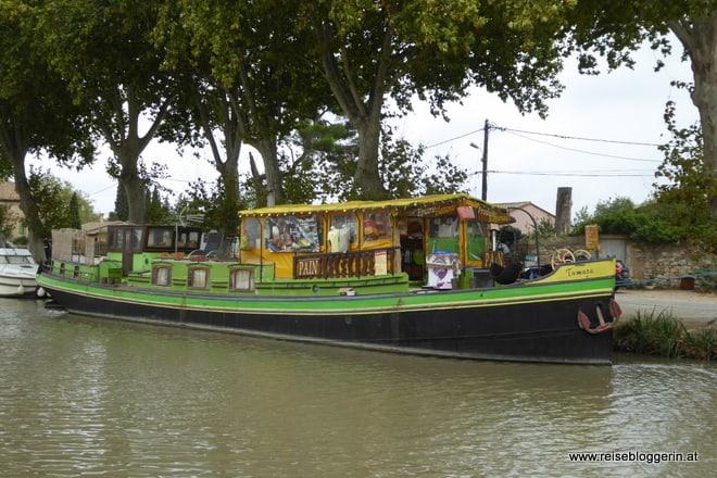 Lebensmittelboot am Canal du MIdi