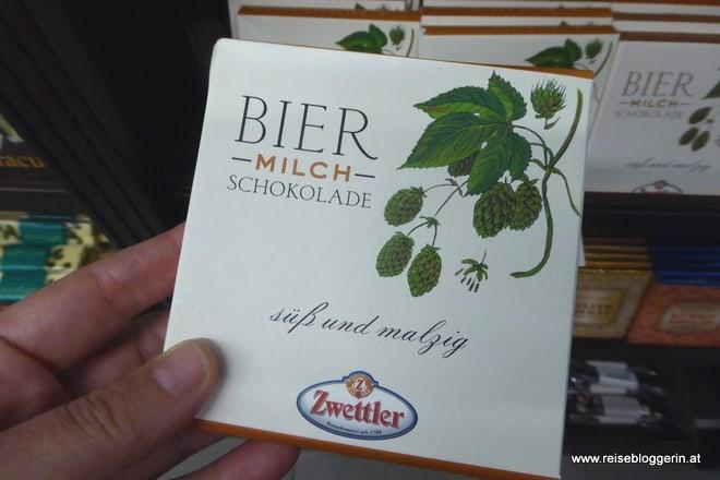 Bier Milch Schokolade im Xocolat