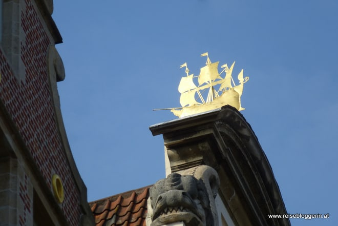 Goldenes Schiff in Gent