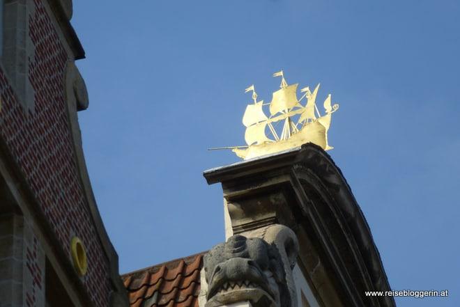 Goldenes Schiff in Gent