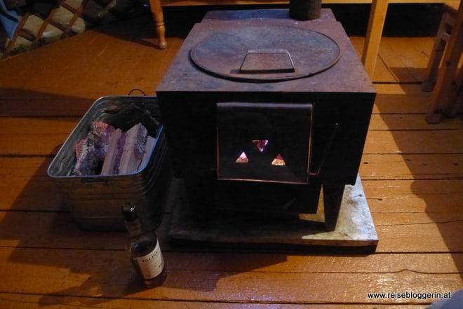 Ofen in einer Jurte in der Mongolei