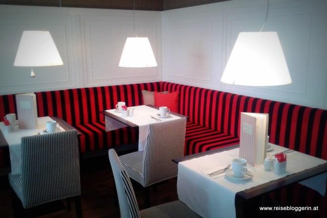 Frühstücksraum im Hotel Harmonie