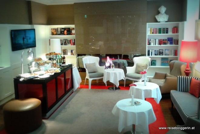 Die Lounge im Hotel Harmonie in Wien