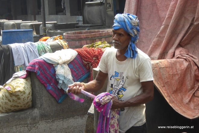 Dhobi Ghat - hier landet die Wäsche der Stadt