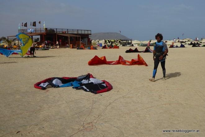 Kitesurfer auf Sal