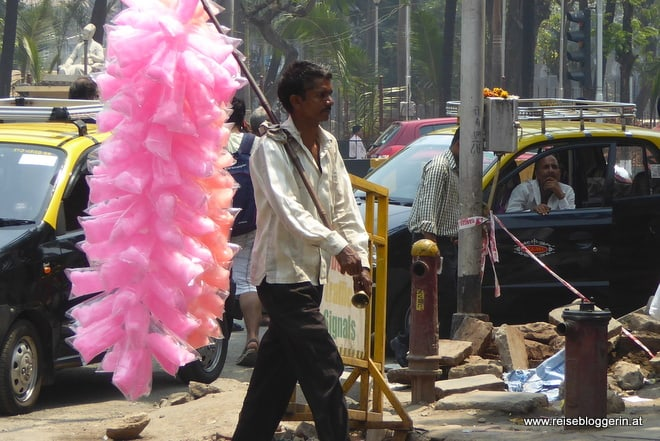 Zuckerwattenverkäufer