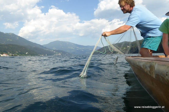 Netzfischen am Millstätter See