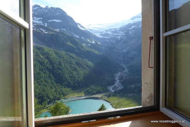 Zimmer mit Blick auf den Gletscher