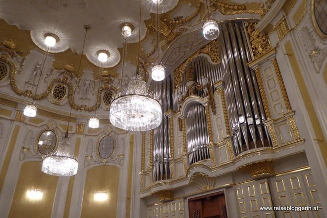 Die Orgel im großen Saal im Mozarteum