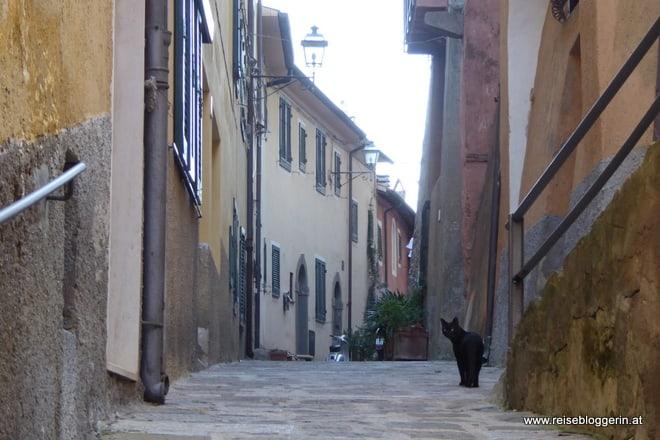 Eine Gasse in Porto Ercole