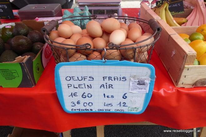 Auf einem Markt in Frankreich