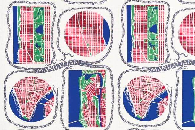 Manhattan_designed by Josef Frank (1942-1946) - Copyright Svenskt Tenn, alle Rechte vorbehalten.