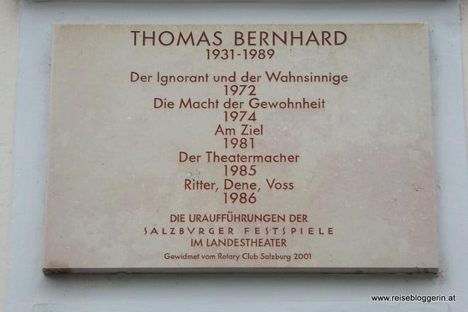 Thomas Bernhard Gedenktafel
