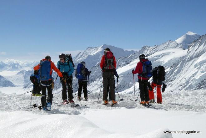 Skitourengeher am Jungfraujoch