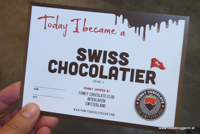 Today I became a swiss chocolatier