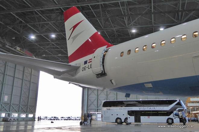 Die Flugzeugwerft am Flughafen Wien