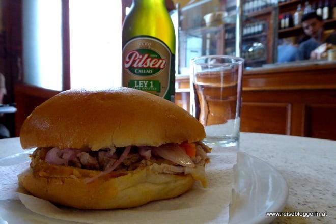 Sandwich im Restaurant Cordano