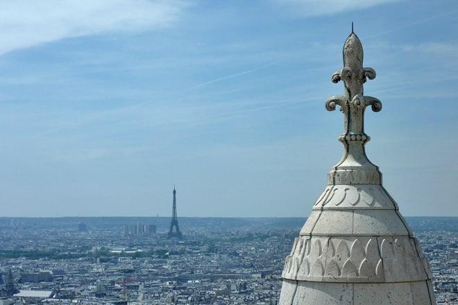 Blick von Sacre Coeur zum Eiffelturm