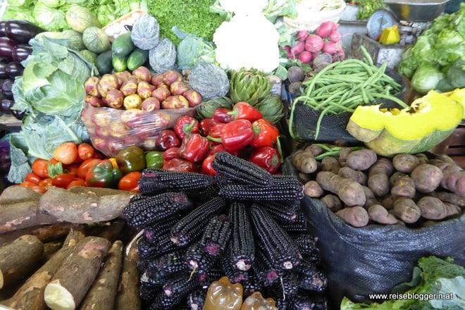 Gemüse am Markt in Lima