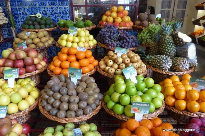 Obst am Markt in Funchal
