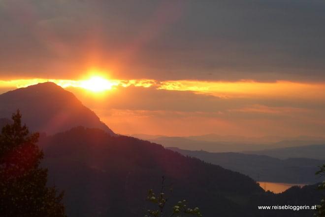 Sonnenuntergang Stoos