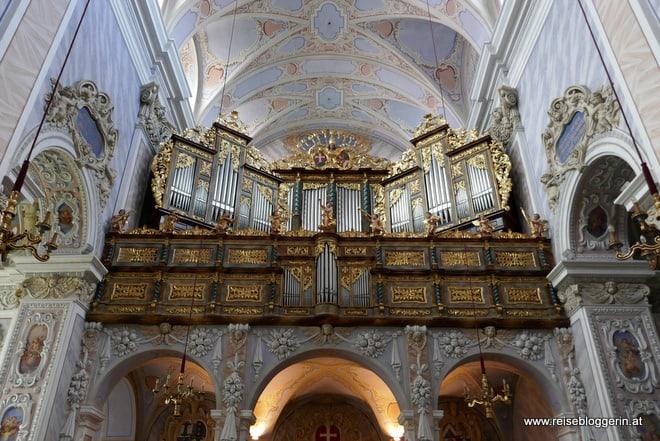 die Orgel in der Stiftskirche in Göttweig