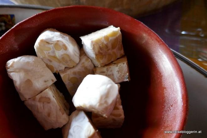 Tempeh sind fermentierte Sojabohnen