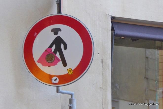 Straßenschild Florenz