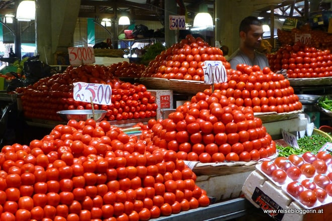 Tomaten am Zentralmarkt in Port Louis