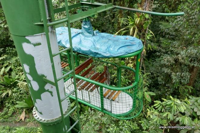 Mit der Seilbahn durch den Regenwald