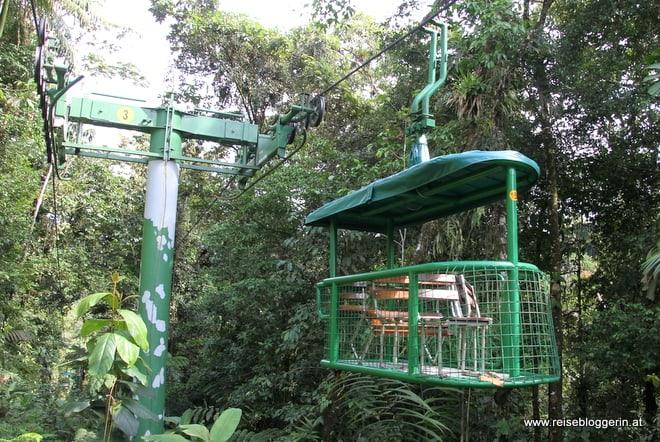 Regenwaldseilbahn in Costa Rica