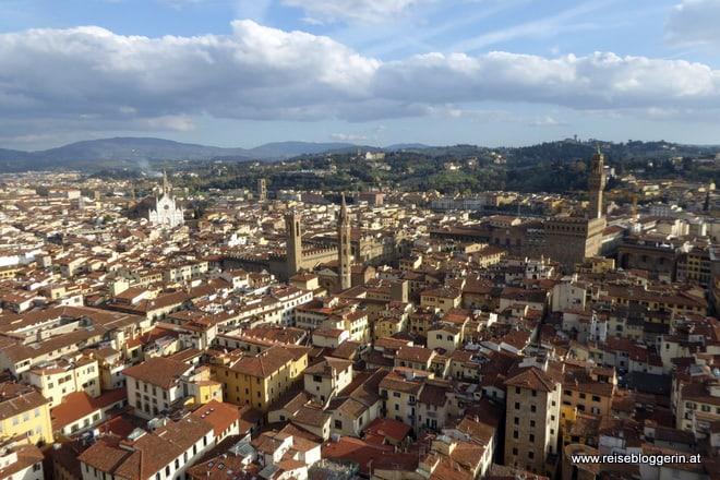 Blick vom Campanile auf Florenz