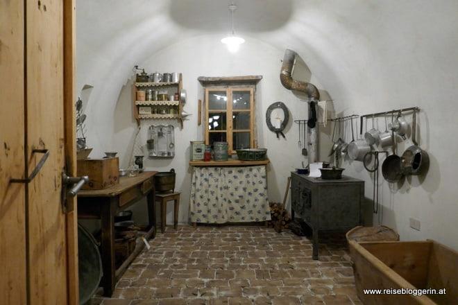 Küche im Museum in Livigno