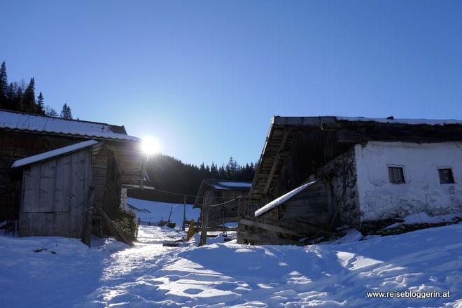 Schneeschuhwandern zum Obernberger See