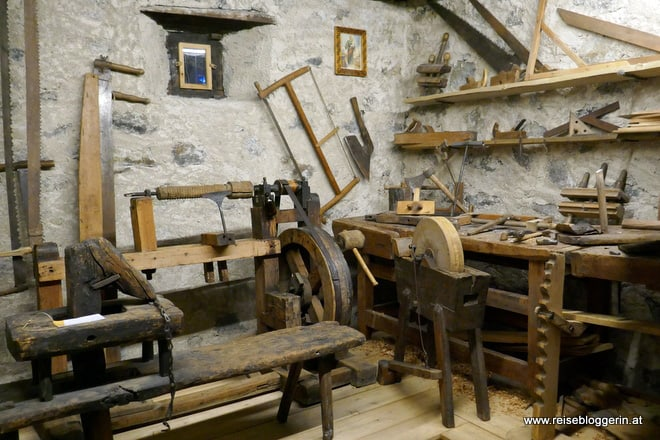 Werkstatt im Museum in Livigno