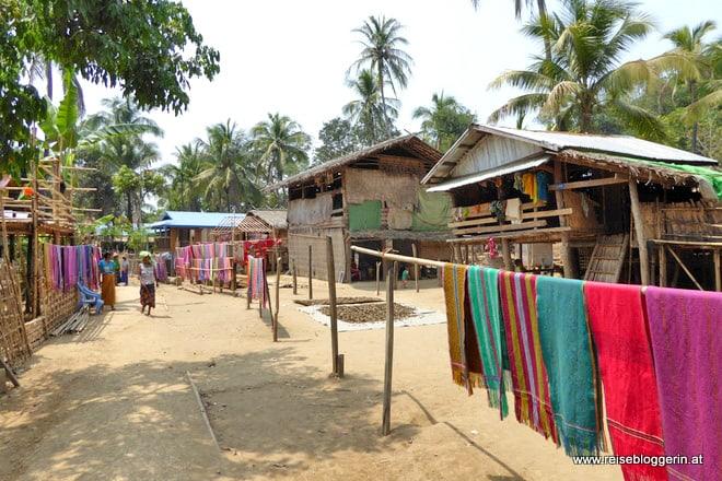 Ein Chindorf in Myanmar