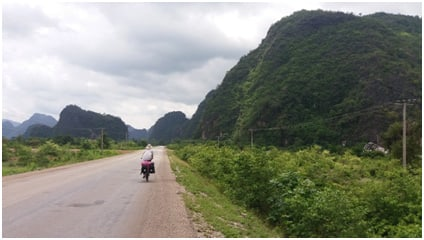 Berge in Zentral Laos