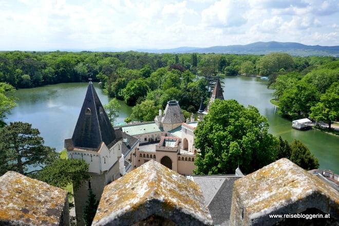 Blick auf den Schlosspark von Laxenburg