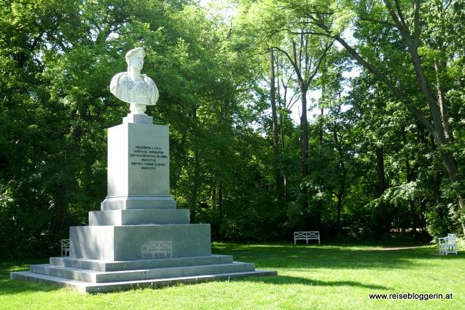 Die Büste von Kaiser Franz