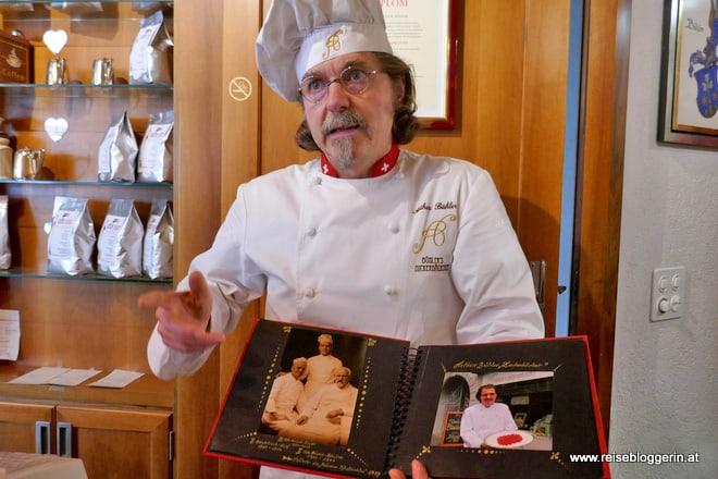 Arthur Bühler, Zuckerbäcker in Chur