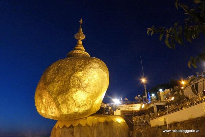 Goldene Felsen in Myanmar