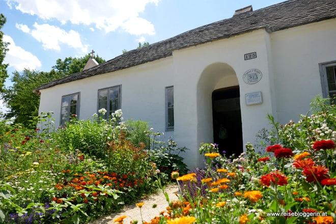 Kleinhäuslerhaus mit Vorgarten