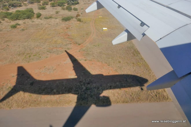Landeanflug Gaborone